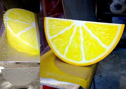 Лимонная долька из пенопласта