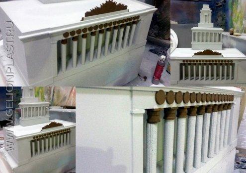 Макет центрального входа ВДНХ из пенопласта