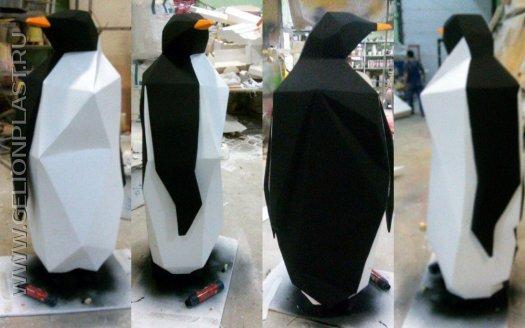 Пингвин из пенопласта