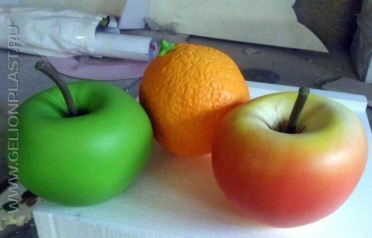 Муляжи фруктов и ягод из пенопласта для оформления фотозоны