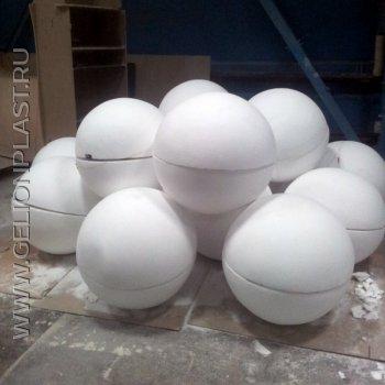 Пенопластовые шары из двух половинок