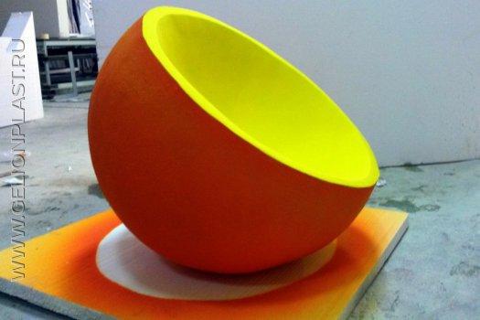 Апельсин из пенопласта