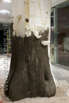 Ствол дерева из пенопласта