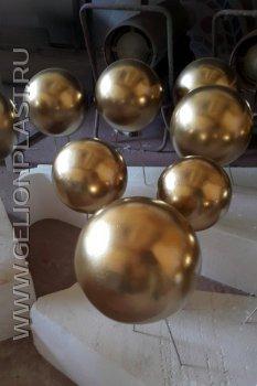 Золотые шары из пеноплкаста