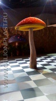 Пенопластовый навес в виде гриба