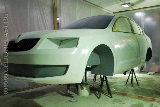 Макет авто Škoda из пенопласта