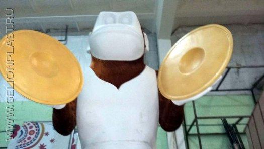Пенопластовая игрушечная заводная обезьянка с тарелками