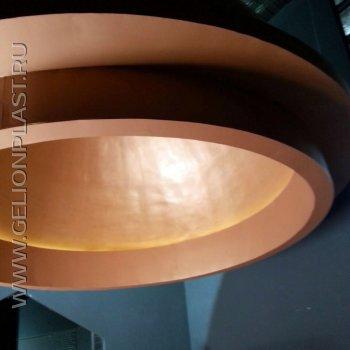 Купол из пенопласта с подсветкой
