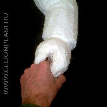 Пенопластовое рукопожатие
