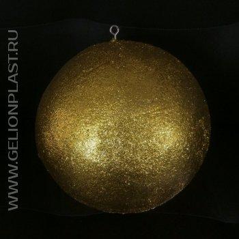 Золотой шар из пенопласта