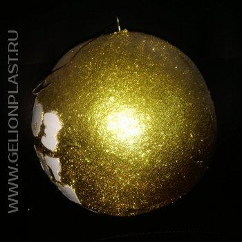 Украшения для новогодней елки из пенопласта: Золотой шар
