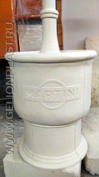 """Двухметровый фонтан с логотипом """"Martini"""" из пенопласта с защитным покрытием"""