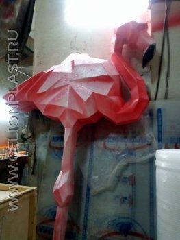 Фламинго из пенопласта