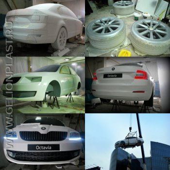 Škoda octavia new из пенопласта