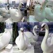 Лебеди из пенопласта для свадебного оформления