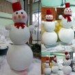 Три снеговика из пенопласта 2015
