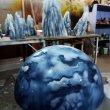 Планета и камни из пенопласта