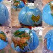 Глобус из пенопласта