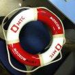 Спасательный круг из пенопласта с логотипом МТС